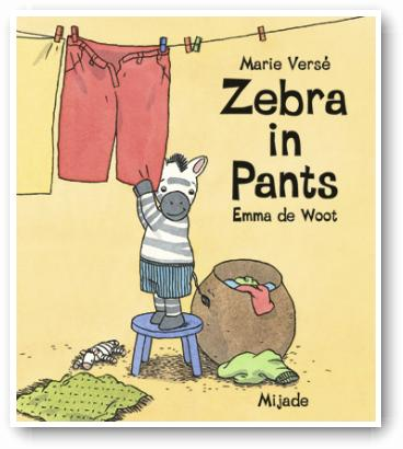 Zebra in pants