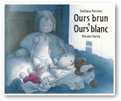 Ours brun et ours blanc